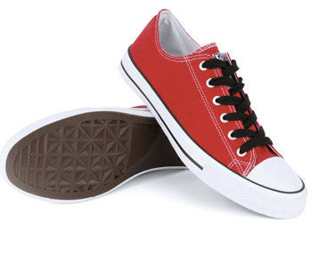 Urban Beach Canvas Lace Up Shoes - Red