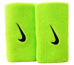 Nike Green Large Double Swoosh Wristbands
