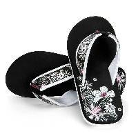 Urban Beach Ladies Petals Flip Flops - Black/White