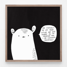 Load image into Gallery viewer, comic, art print, majasbok, future me, life quote, print, illustration,