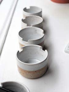 Ceramic cup - with brush holder - made by Sanna Alvtegen
