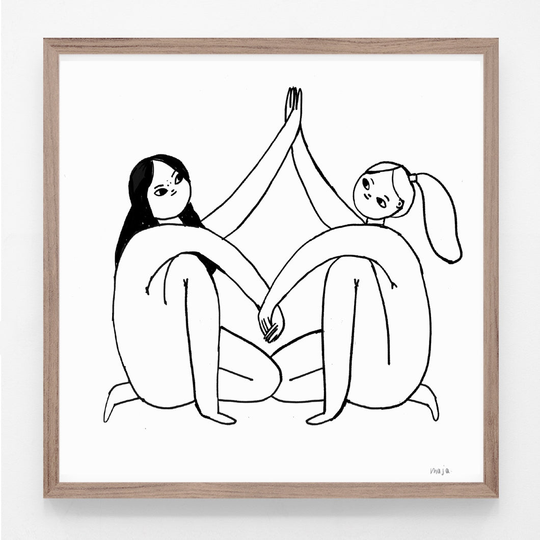 Girls naked, print