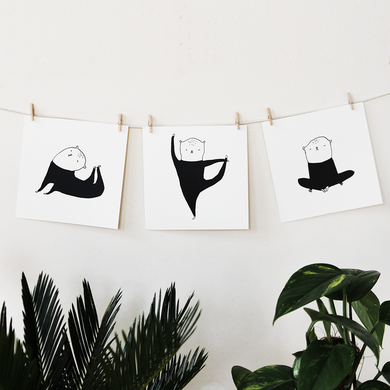 The Yoga Trio! Miniprint set