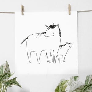 Unicorn Mom - print