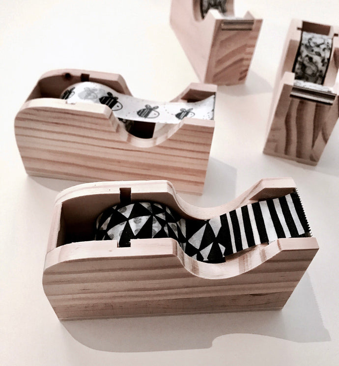 little wooden tape dispenser