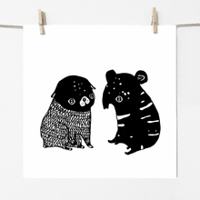 Load image into Gallery viewer, Pug & Tapir - Print