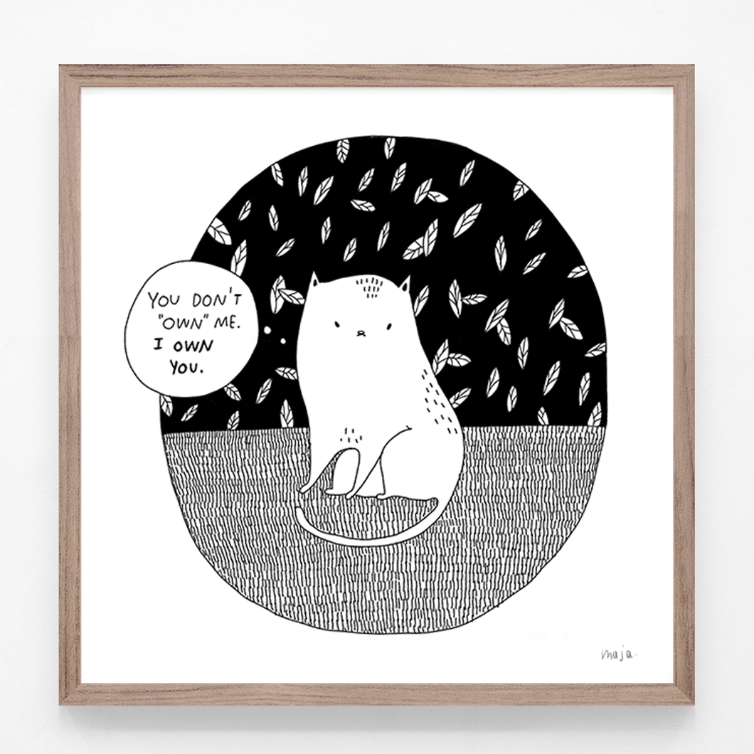 The cat truth, print