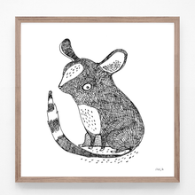 Load image into Gallery viewer, mouse, mouse illustration, mouse print, mouse art, majasbok, black and white print, art print, print, line drawing, animal print