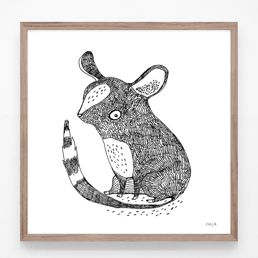 mouse, mouse illustration, mouse print, mouse art, majasbok, black and white print, art print, print, line drawing, animal print