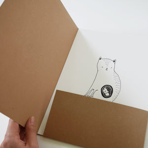 The Cat mom -  Letterpressed folder + print