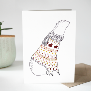 Greeting card - Friend in a sweater