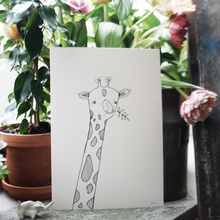 Load image into Gallery viewer, Giraffe, print