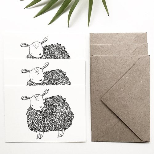 Sheep - Set of 3 Mini Cards