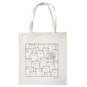 I just want to go home and read my book. - totebag