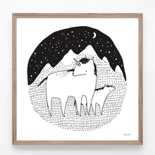 Load image into Gallery viewer, Unicorns in the Night - print