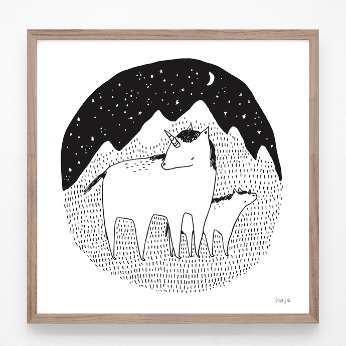 Unicorns in the Night - print