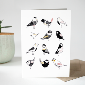 Greeting card - Nine Little Birdies