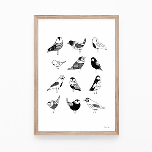 Nine Little Birdies - print