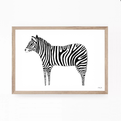 zebra, zebra illustration, zebra print, zebra art, black and white print, majasbok, art print, print, line drawing, animal, animal print