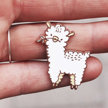 Load image into Gallery viewer, llama pin, cute pin, pin, pin game, enamel pin, pins, pin rose gold, made by cooper, alpaca pin, quote pin, majasbok pin