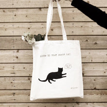 Load image into Gallery viewer, Listen to your inner cat - Tote bag