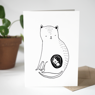 Greeting card - The Cat Mom