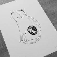 Load image into Gallery viewer, The Cat mom -  Letterpressed folder + print
