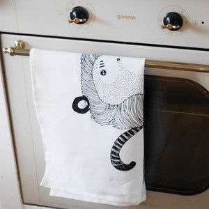 Monkey-lion - tea towel