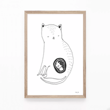 Load image into Gallery viewer, The Cat Mom (one baby or with twins!!) - print
