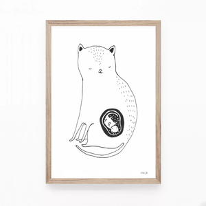 The Cat Mom (one baby or with twins!!) - print