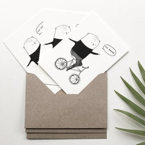 No Hands - Set of 3 Mini Cards
