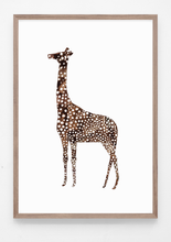 Load image into Gallery viewer, giraffe, giraffe illustration, animal print, animal art, majasbok