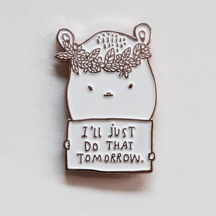 pin, pin game, enamel pin, pins, pin rose gold, made by cooper, tomorrow pin, quote pin, majasbok pin