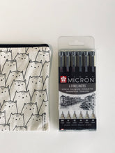 Load image into Gallery viewer, SAKURA Pigma Micron Fineliner 6-set