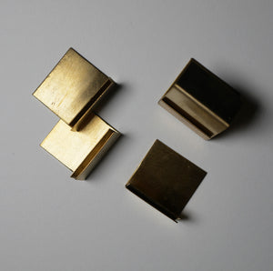 Mini card holders in brass (pack of four)