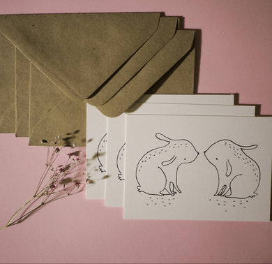 Rabbits - Set of 3 Mini Cards