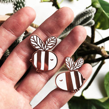 Load image into Gallery viewer, 2 Bees! hard enamel pins