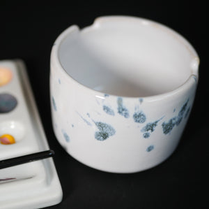 Ceramic cup - brush holder - made by Sanna Alvtegen