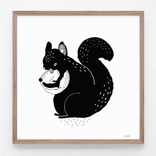 NEW! Squirrel - print