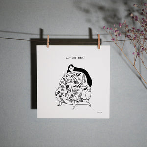 tattoo illustration majasbok print wallart inked