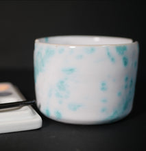 Load image into Gallery viewer, Ceramic cup - brush holder - made by Sanna Alvtegen