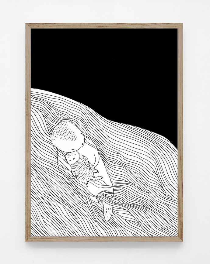 NEW! Seaotter baby - print