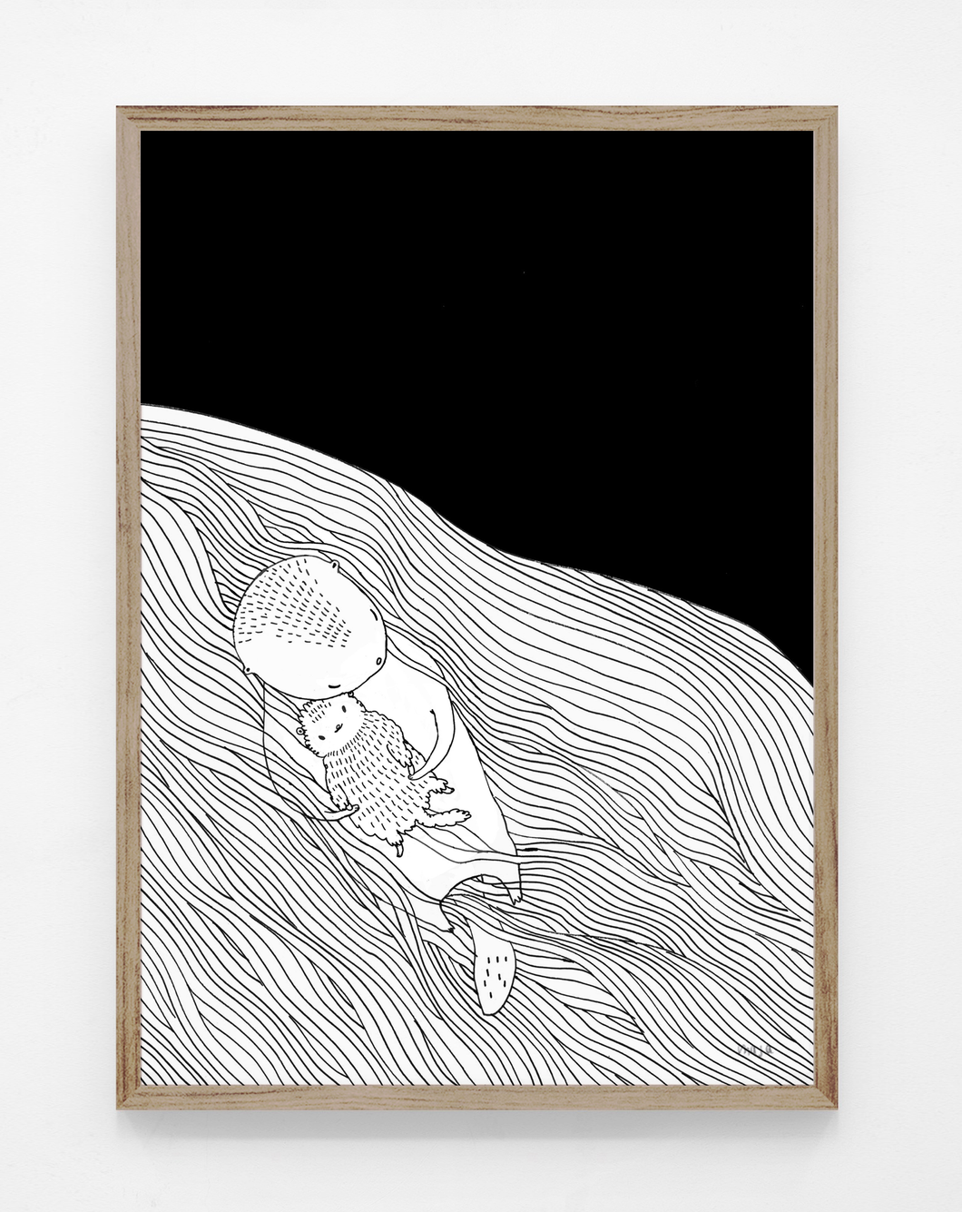 Seaotter baby, print