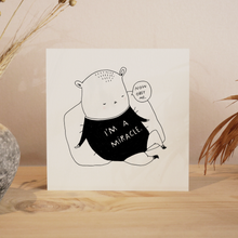 Load image into Gallery viewer, maja Säfström, majasbokshop, comic, black and white, illustration, illustrator, art print, print, life quote, baby, newborn, present, obey me
