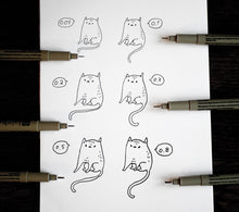 Load image into Gallery viewer, Pigma micron set of 6 fineliners