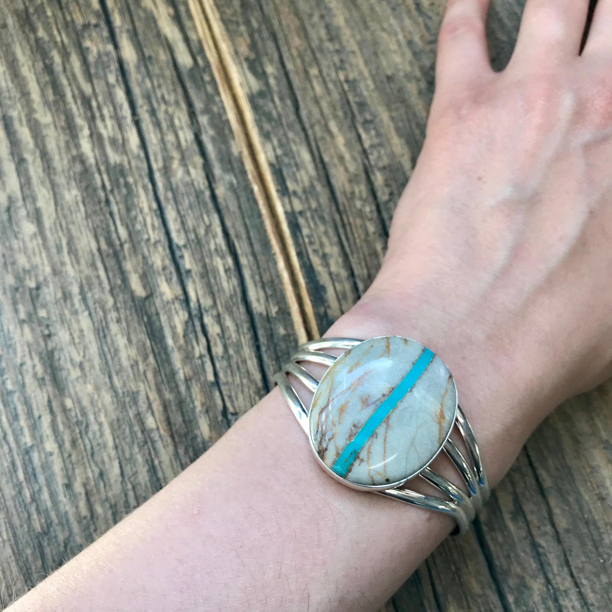 Boulder Ribbon Sterling Silver Cuff