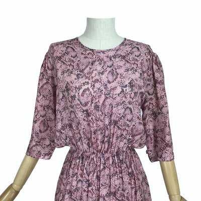 Pink Snakeskin Dina Dress