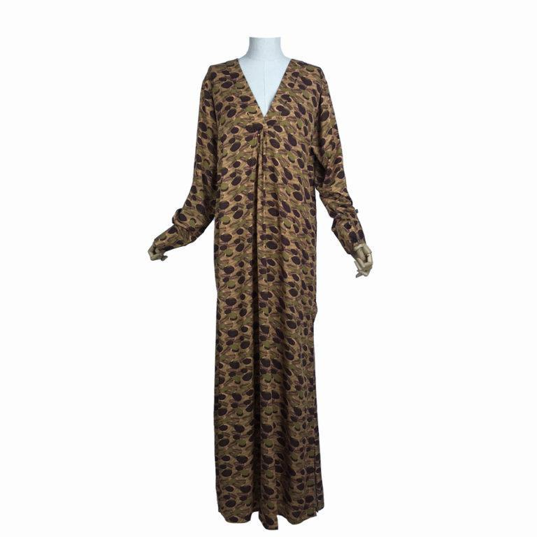 Brown Leaves New Abaya Dress