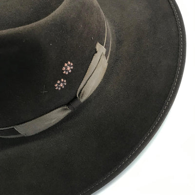 Dark Brown Dress Hat- 6 7/8