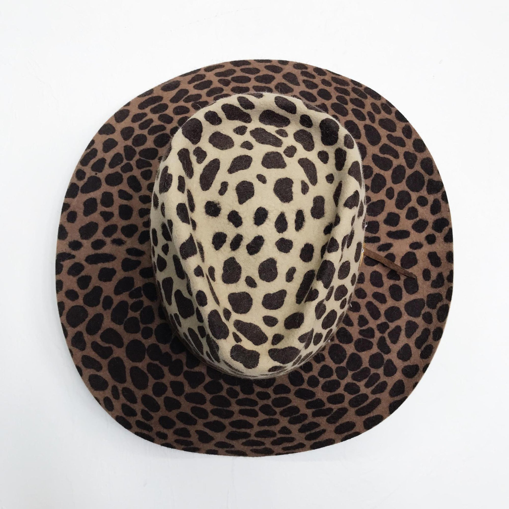 Brown Exotic Animal Print Hat